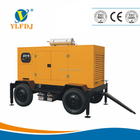 Shangchai 160KW Home or school use standby power soundproof diesel generator with two-wheeled trailer