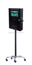 stand floor Vending Breathalyzer with LCD TV(Fuel cell sensorl)