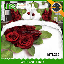 alibaba china 100% cotton 3d printed wholesale comforter 4pcs sets bedding