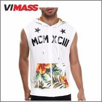 wholesale custom 2015 plain sleeveless white t-shirts for men