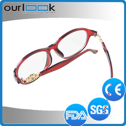 New Style Red Color Optical Frame Eyeglass Frames Asian Fit