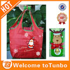 Folded key chain santa claus decoration foldable shopping bags with christmas reindeer