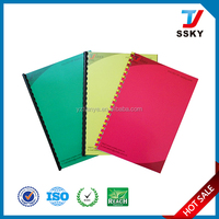 Plastic pvc hard binding cover for stationery book