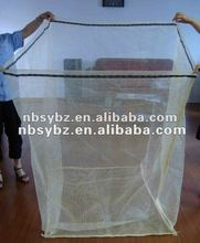 euro firewood mesh bag with bottom for pallet