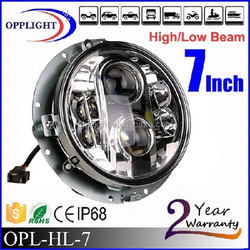 "7"" sealed beam replacement led headlight car led headlight 80watt hi low beam drving light 7inch"