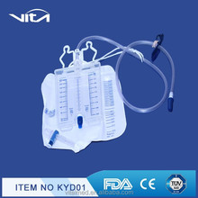 3000ml Disposable Urine Meter With Three Chanmber for liquid-leading and urine collection