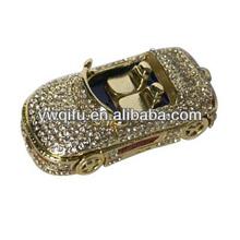 Luxury Crystal Zinc Alloy Home Decoration Use vintage antique metal model car
