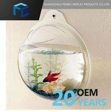 Small Order Accept Custom Printing Logo Acrylic Wall Fish Bowl