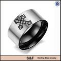 Anillo de hombre anillo de acero inoxidable