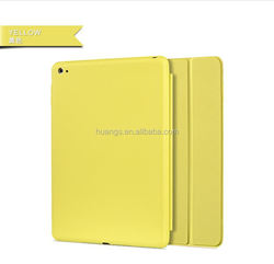 2015 Stylish popular folio 3 folding stand leather case for ipad air 2 cover factory price