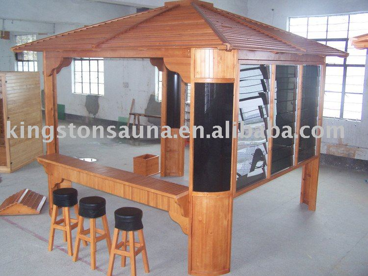 The seaside bar wooden spa gazebo kits view bar wooden for Spa gazebo kits