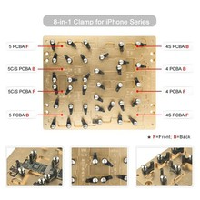 For iPhone IC main board repair!! 8 in 1 clamps for iPhone series, iPhone motherboard holder