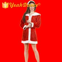 precioso vestido de navidad sexy rojo santa claus trajes