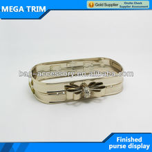 fast delivery design fancy purse frame hardware with a bowknot lock