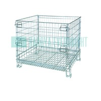 Warehouse foldable heavy duty folding cages