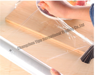 Customize PE transparent best fresh film food grade plastic wrap dispenser
