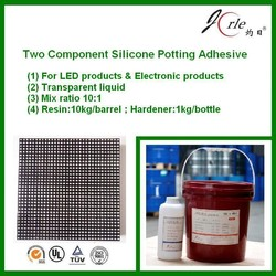 double component potting glue for display
