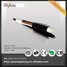 alisador de cabelo e ferro de ondulação com pente feito em coreano ferro liso do cabelo com escova