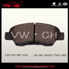 AUTO PARTS BRAKE PADS CHINA MANUFACTURED45022-TK6-A00