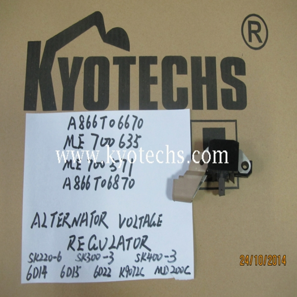 EXCAVATOR ALTERNATOR VOLTAGE REGULATOR FOR A866T06670 ME700635 ME700571 A866T06870 SK220-6 SK300-3 SK400-3 6D14 6D15 6D22 K907LC MD200C.jpg