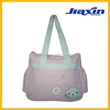 Cute pink rabbit baby diaper bag
