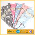 encapuchado animales de peluche baratos doble capa manta de seguridad bebé recién nacido