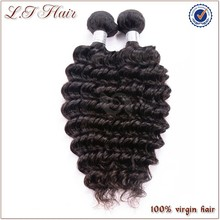 Wholesale unprocessed virgin indian deep curly hair with high quality and low price