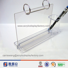 High Quality Lucite Picture acrylic photo frame with pen holder
