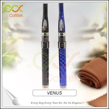 Comfortable individual flat drip tip ego venus kit with sterilization cleaning cloth