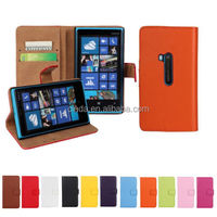 Genuine Leather Stand Wallet Case Flip Cover Protector F Nokia Lumia 920 N920