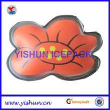 promotional flower shape reusable gel pocket hand warmer