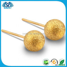 New Invention Ball Gold Basket Earrings