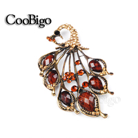 Fashion Jewelry Noble Phoenix Bird Brooch Pin Crazing Arcylic Stone Women Dresses Hijab Scarf Party Gift Appreal Accessories