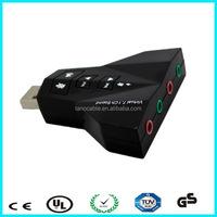 3D Sound surround virtual 7.1external audio usb 2.0 sound card