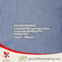 wholesale 100% poplin cotton blue and white stripe fabric