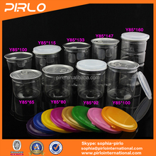 Various plastic storage jar with easy open end hermetic storage jars for candy dry fruit or other food jars