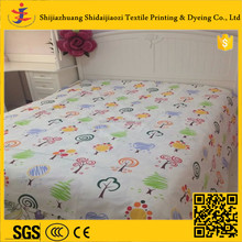 Single bed cotton sheet set fabric