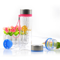 2015 New Hot 800ml Plastic Tritan Fruit Infuser Water Bottle for Drinking