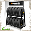 metal and plastic display rack stand for car tires