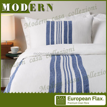 navy blue and white stripe fabric for wholesale bedding set