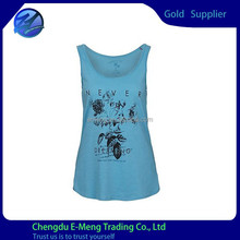 Wholesale High Quality Cotton Woman Printed Tank Tops