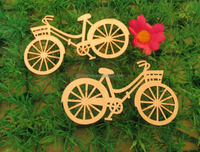10pcs/set Brand New Bicycle Die Cutting Plywood Template DIY Crafts Handicraft Wood Crafts Accessories 88mm*48mm