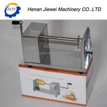 Manual spiral potato chips machine/twisted chips potato cutter/potato chip spiral cutting machine