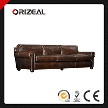 ORIZEAL lUXURIOUS LANCASTER GENUINE LEATHER SOFA (OZ-LS-2031)