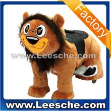 factory price walking animal rides on toy stuffed animal ride electric