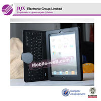 Bluetooth Keyboard for iPad with Leather Case fro ipad1/2/3