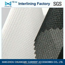 China 100% polyester garment accessories chemical bond fusible interlining fabric(5702) With SGS