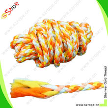 Hot Sale Mixed Color braided polyester rope 6mm