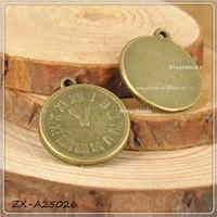 Pocket watch necklace /Metal necklace clock Charms Pendants Antique Bronze ZX-A25026