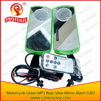 12V MP3 Player Motorcycle Rear View Mirror